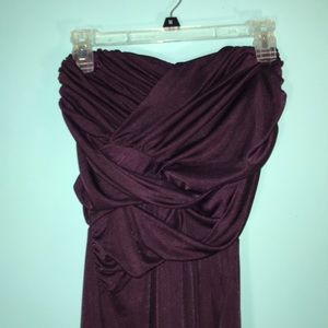 pre loved strapless Express deep purple size S/P